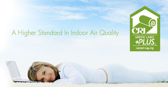 Green label plus indoor air quality for Green label carpet
