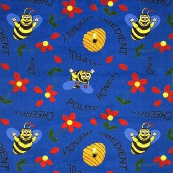 Bee Attitudes - Blue From Joy Carpets