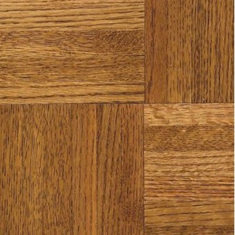 """Urethane Parquet - 7/16"""" thickness - 15 Yr. Finish - Honey From Armstrong Hardwood"""