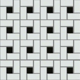 Elegance Pinwheel Mosaic - White/Black From Shaw Floor Tiles