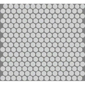 Elegance Penny Round Mosaic - White From Shaw Floor Tiles