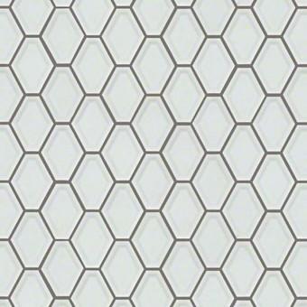 Elegance Beveled Diamond Mosaic - White From Shaw Floor Tiles