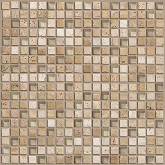 Mixed Up 5/8 Mosaic Travertine - Dune From Shaw Floor Tiles