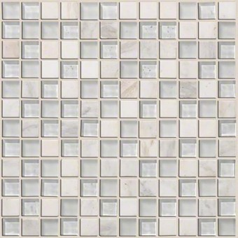 Mixed Up 1x1 Mosaic Stone - Snow Peak From Shaw Floor Tiles