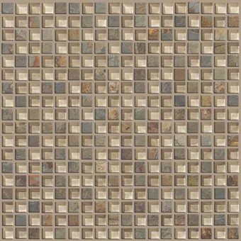 Mixed Up 5/8 Mosaic Slate - Denali From Shaw Floor Tiles