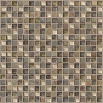 Mixed Up 5/8 Mosaic Slate - Spring Valley From Shaw Floor Tiles