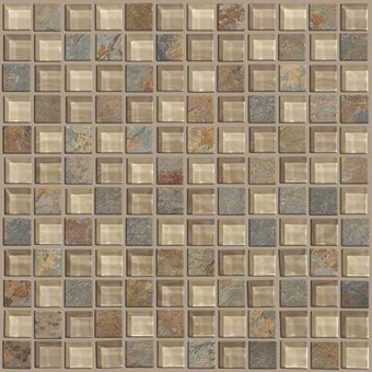 Mixed Up 1x1 Mosaic Slate - Denali From Shaw Floor Tiles