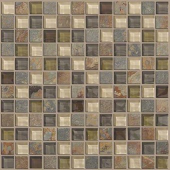 Mixed Up 1x1 Mosaic Slate - Spring Valley From Shaw Floor Tiles