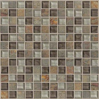 Mixed Up 1x1 Mosaic Slate - Pikes Peak From Shaw Floor Tiles
