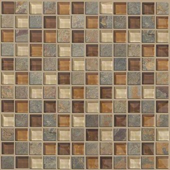 Mixed Up 1x1 Mosaic Slate - Crested Butter From Shaw Floor Tiles