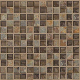 Mixed Up 1x1 Mosaic Slate - Piedmont From Shaw Floor Tiles