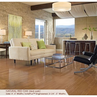 """Color Plank Solid Plus 3.25"""" - Natural Red Oak From Somerset Hardwood"""
