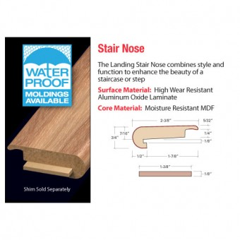 "94"" Stair Nose - Pecan Shell From Accessories"
