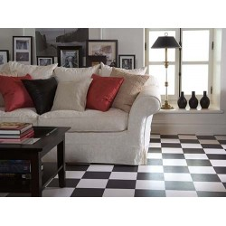Black & White Tile Sheet Vinyl