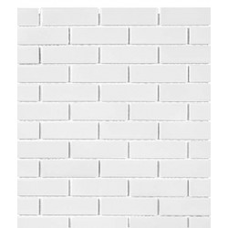 White Mini Brick Glossy
