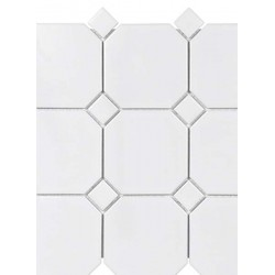 White W/Dot Octagon Matte