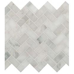 Arabescato Herringbone Honed Mosaic
