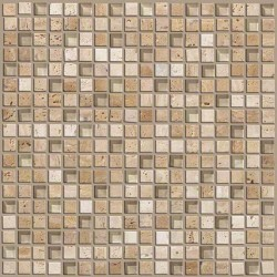 Mixed Up 5/8 Mosaic Travertine