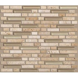 Mixed Up Random Linear Mosaic Travertine