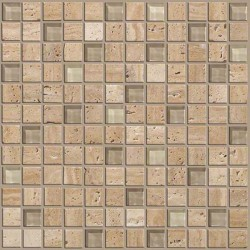 Mixed Up 1x1 Mosaic Travertine