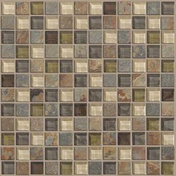 Mixed Up 1x1 Mosaic Slate