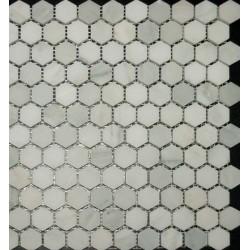 Arabescato 1 Inch Hexagon Honed Mosaic